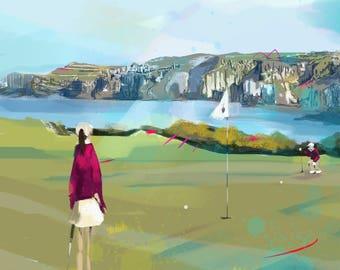 Golfer's Neckwear - 'White Rocks Royal Portrush'