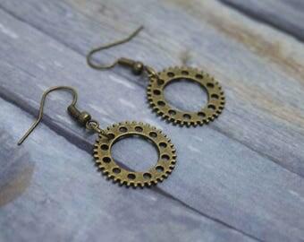 Steampunk Earrings, Steampunk Jewelry, Steampunk Jewellery, Cog Earrings, Gear Earrings, Steam Punk Earrings, Steampunk Style, Steampunk