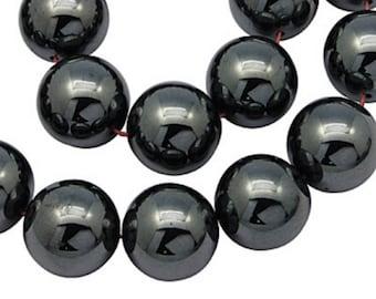 100 beads Hematite 10 mm ideal Shamballa