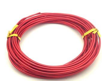 x6m aluminum 2mm diameter, red wire: FA0030