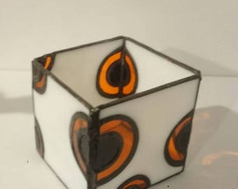HIPPY Candle Holders-stained glass, Tiffany, candle holder