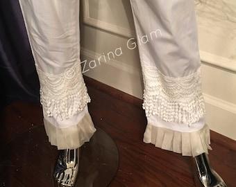 Black or White Cotton Lace Pants