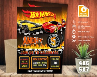 Hot Wheels In Wheels-vitation,Hot Wheels Party,Hot Wheels Birthday,Hot Wheels Birthday Invitation,Hot Wheels Birthday party,Hot-F0129
