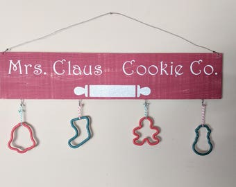 Mrs. Claus Cookie Company Wood Sign