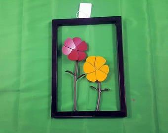 Framed 2 Flower Wall Decor