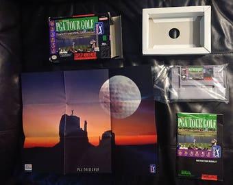 PGA Tour Golf CIB | SNES Super Nintendo | Not Repo | Box Instructions Poster Insert | Everything!