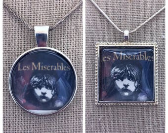 Broadway Musical Les Miserables pendant.Les Miserables jewelry .Les Miserables Musical. Broadway play Les Miserables