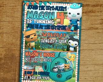 Octonauts Birthday Invitation, Octonauts Birthday Invite, Octonauts Party Invitation, Octonauts Birthday Card, Octonauts Invites