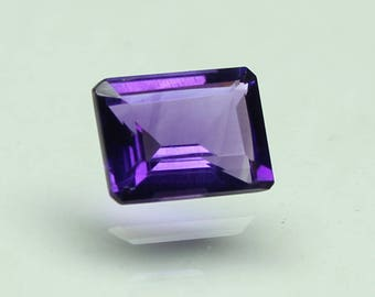Natural Amazing AAA Purple African Amethyst Size 9x7 mm faceted Octagon 1 PC CODE :- AQ25