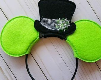 Christmas Hat Mickey Mouse Inspired Ears