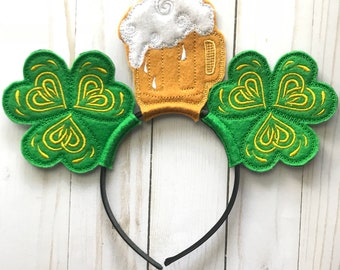 St. Patrick's Day Beer Stein and Clover Headband