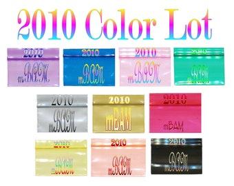 100-200 2010 COLOR Lot Apple Mini Ziplock Baggies TOP QUALITY Gold Silver Blue Red Yellow Purple Green Orange Pink