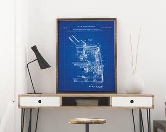 Microscope Art Print| Microscope| Science Art| Lab Wall Art| Biology Teacher Gift| Wall Art| Chemistry| Pharmacist| Biology| Science|