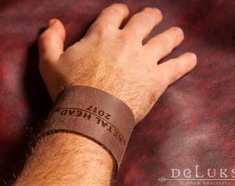 Celtic Leather Bracelet, Viking Bracelet, Men's Leather Wristband, Norse Leather Bracelet, Nordic Leather Bracelet Cuff, Men's Cuff Bracelet