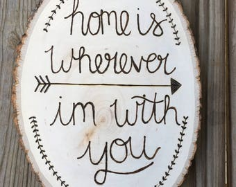 Home is wherever im with you sign