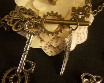 Charm Key Steampunk Necklace