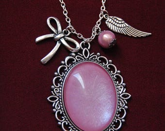 Necklace pink BabyDoll and charms