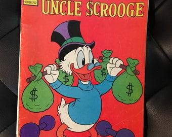Vtg walt Disney Uncle Scrooge Gold Key Comic Book 1977 #137