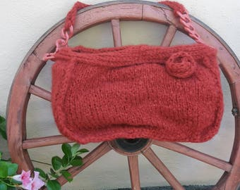 Crochet bag, knitted bag and crochet wool