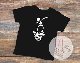 Dabbing T Shirt, Unisex, Female, Male, Boy, Girl,  TShirt, Top, Dabbing, Skeleton