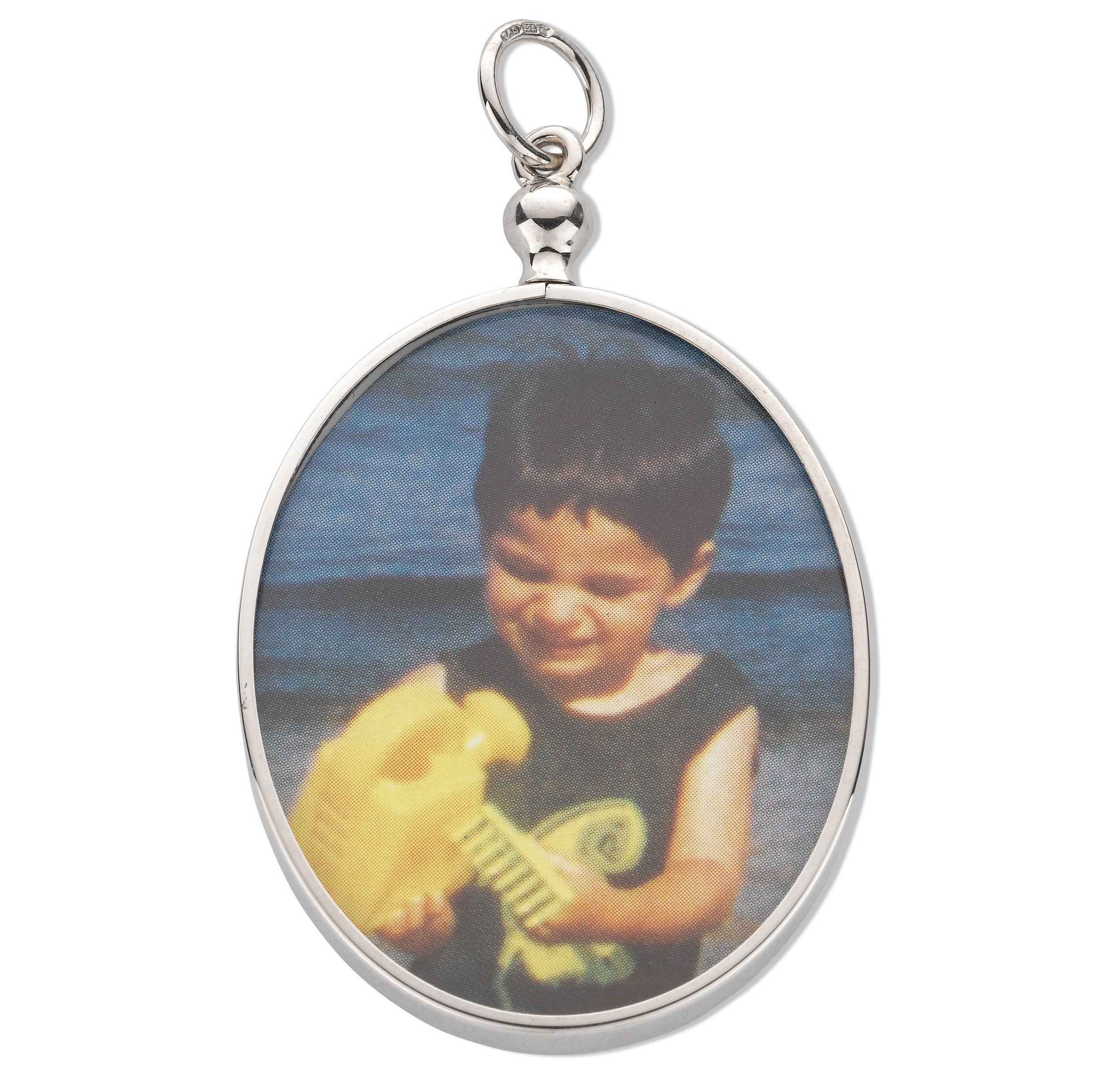 925 sterling silver double sided 2 photo picture frame pendant 925 sterling silver double sided 2 photo picture frame pendant oval round jeuxipadfo Image collections