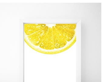 Lemon Print, Food Art, Food Print, Kitchen Print, Kitchen Wall Art, Kitchen Wall Decor, Printable Wall Art