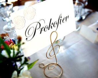 Treble Clef Table Place Card Holders