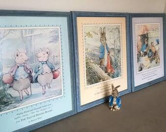 beatrix potter prints / peter rabbit  / art / childrens books / books / home decor / childrens toys / vintage / retro / gifts / frames / pho