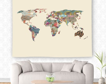 Quilt Map Tapestry, Rainbow Tapestry, World Map Wall Hanging, Globe Tapestry, World Map Decor, Color Map Wall Hanging, Travel Tapestry