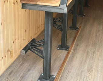Industrial style bolt down bar stools
