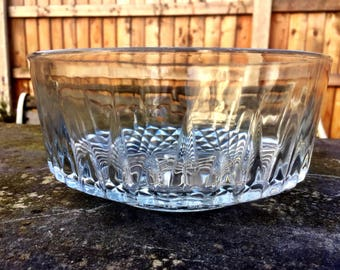 Vintage Pressed Glass Bowl, made by Arcoroc in France