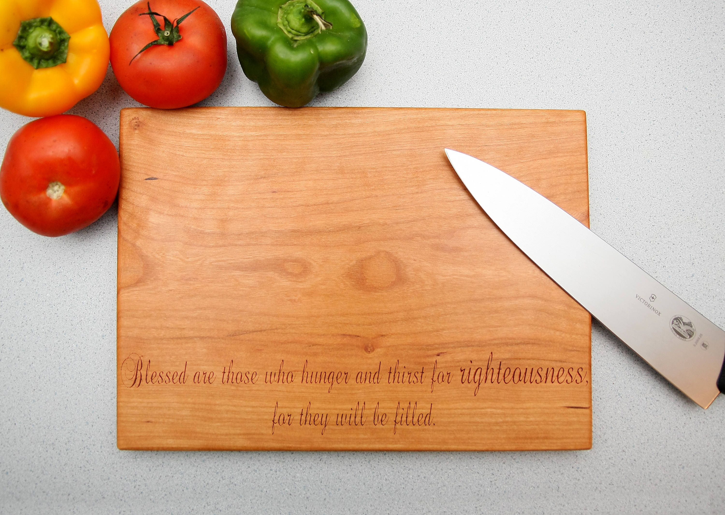 Matthew 5 6 Righteousness Cutting Board Gift for Christmas