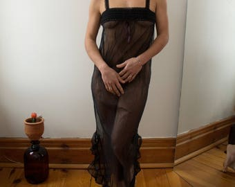 Black transparent Nightgown