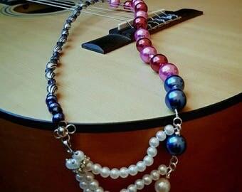 Colouful waves chain / necklace unique