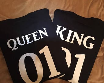 Couples King and Queen 01 T-shirts