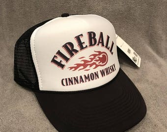 FireBall Cinnamon Whiskey Trucker Hat Vintage Promo Party Snapback Cap 2314