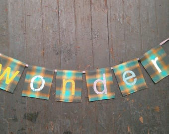 YOUR CUSTOM HOLIDAY  One-Word Holiday Banner
