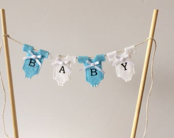 Baby shower cake bunting . Cake bunting . Baby boy bunting .