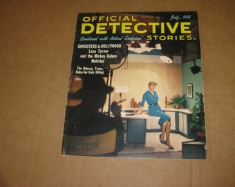 Official Detective Stories magazine back issue dated 1958   [c4825o]