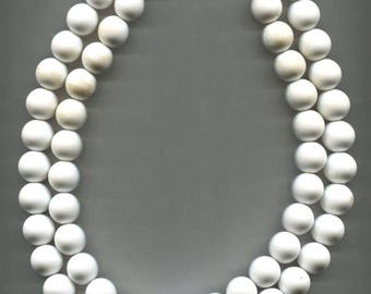 MONET White Beads Necklace