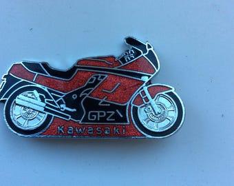 Kawasaki GPZ Metal Badge Pin