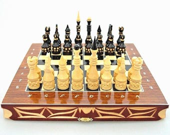 Unique Carved Handmade Chess With Small Wooden Pieces, For Professional  Players And Home Decoration,
