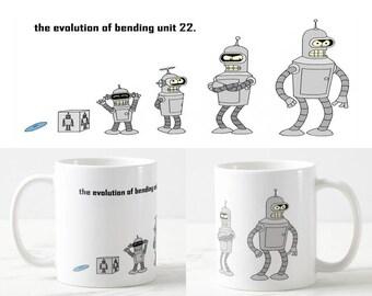 Futurama Bender Mug - Futurama Mug -Coffee Mug - Funny Mug - Funny Gift - For Her - For Him - Birthday Gift - Handmade