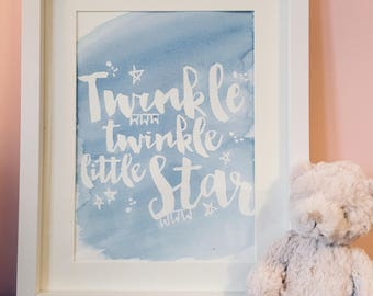 Twinkle Twinkle Little Star- Original watercolour painting (unframed)