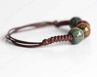 Ceramic Handmade Trinkets Bracelet