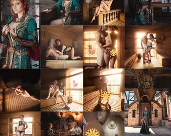 The Witcher 3 - Triss Merigold cosplay prints (20 photos with 18+!!!)