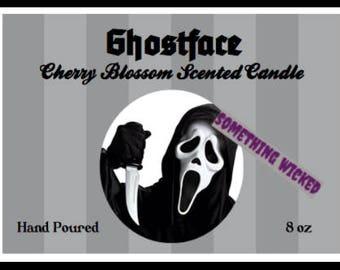 Scream Horror Villain Ghostface Inspired Candle