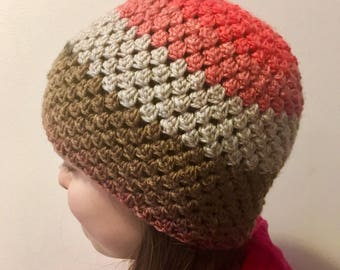 Multi-colored wool hat