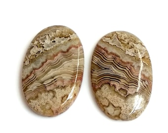 Crazy Lace Agate Oval Pair Cabochon,Size- 25x16 MM, Natural Crazy Lace Agate , AAA,Quality  Loose Gemstone, Smooth Cabochons.
