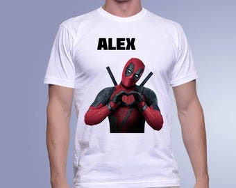 Deadpool T Shirt, Personalized Deadpool T-Shirt, Custom tshirt, Deadpool Tee, Deadpool Fan Shirt, Dead Pool tshirt, Superhero T Shirt